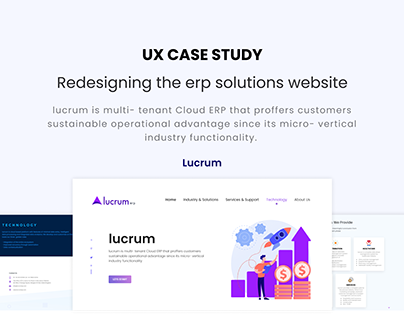 Enterprise Solutions Website (UX Case Study)