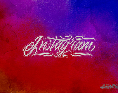 Social networks lettering