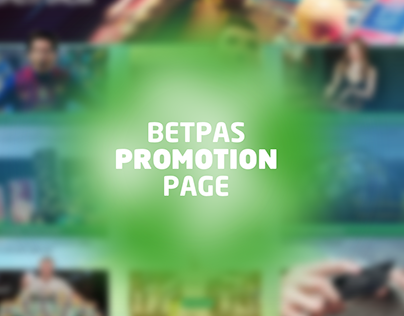 Promotion page for bet site