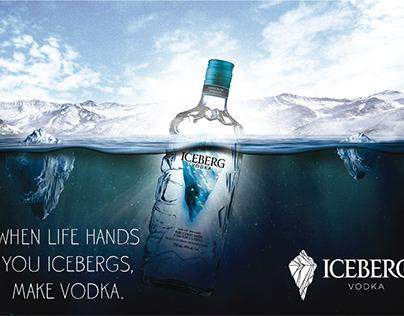 Iceberg Vodka - Afiche Publicitario.