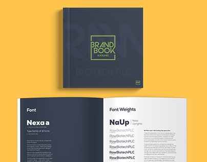 RAW - Brand Guidelines Mockup