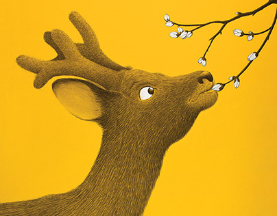 Young deer illustration for my next book named BAMBI