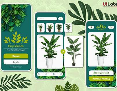 Buy Plant Mobile App | Free XD File