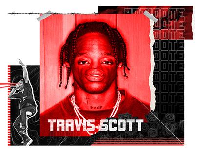 Travis scott collage design
