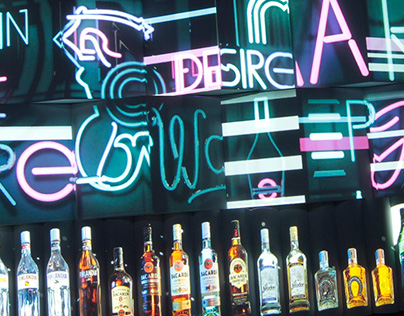 Virtual Drink Bar with Video Mapping projection