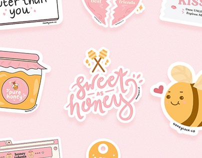 HoneyLock Stickers