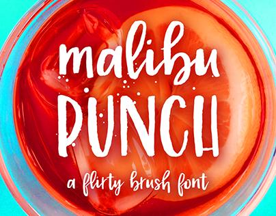 Malibu Punch, a flirty brush font