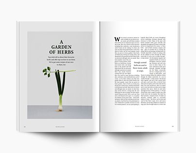 Garden oh Herbs: editorial spread