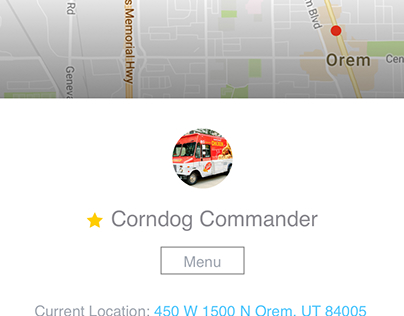 Food Truck Finder first concept
