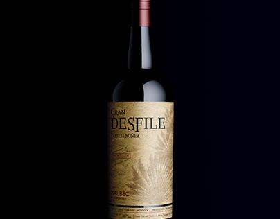 GRAN DESFILE wine label