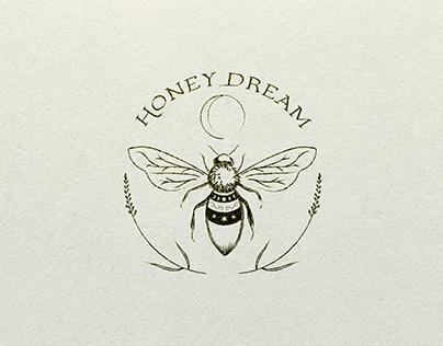 Honey Dream logo and branding
