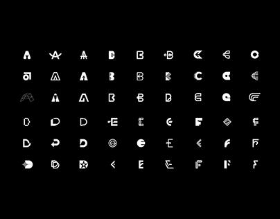 Alphabet 1 (A to F)