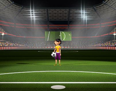 Interactive soccer minigame