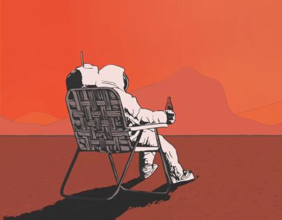 Astronaut on Mars Cinemagraph