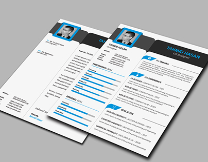 Professional Resume Template With Business Card