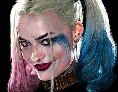 Harley Quinn art for Suicide Squad Merchandise