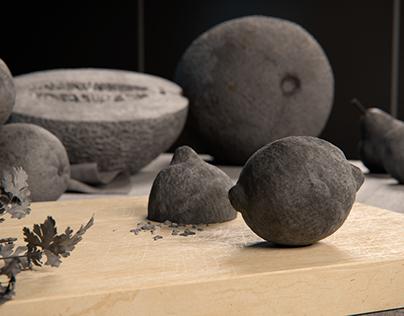 Concrete fruit