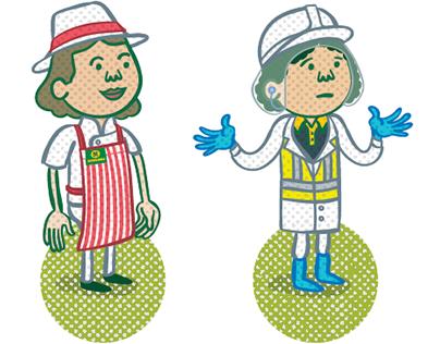 Morrisons Supermarket characters