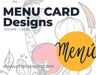 Menu Card Designs Volume - 1 (2020)