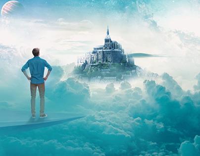 Photo Manipulation-Social Media quote-DREAM BIG