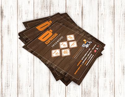 d'espresso bar flyer