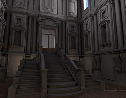 Michelangelo's Laurentian Library Steps
