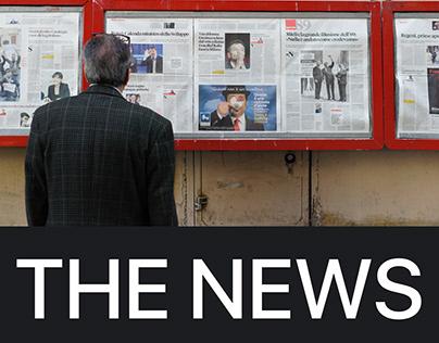 THE NEWS — WEBSITE DESIGN CONCEPT