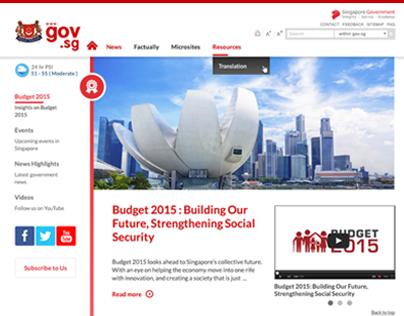 gov.sg | The official website of Singapore government