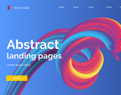 Free Abstract Landing Page with Tutorial