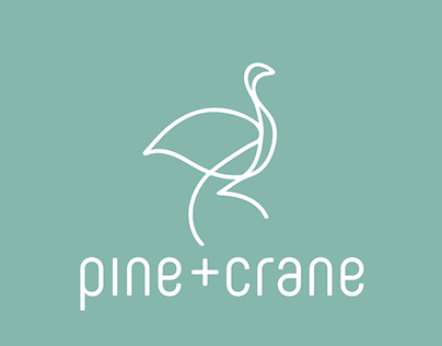 PINE+CRANE Logo and Packaging Design