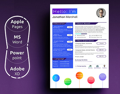 Modern Resume Template Word Pages