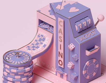 Casino gambling building concept