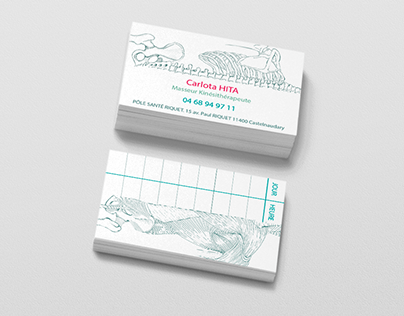Business Card for a physical therapist.