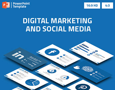 Digital Marketing and Social Media PowerPoint Template