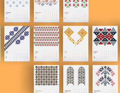 Romanian Motifs Calendar