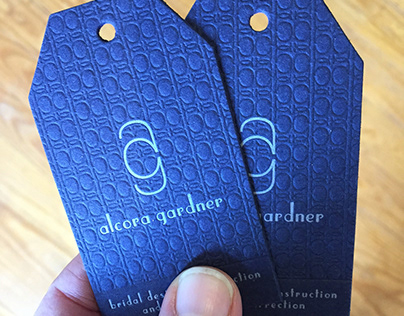 Letterpress Business card/Tag