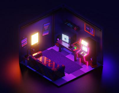 3D Arcade Room Remake