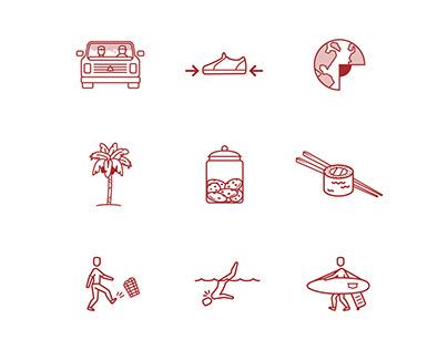 Crimson Goods Icon Set