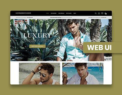 GENTLEMEN'S COVE | Home Page Design, LandingPage Design