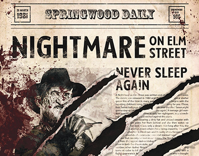 Poster | Freddy Krueger | A Nightmare on Elm Street