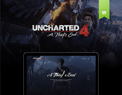 Uncharted 4: A Thief's End Website