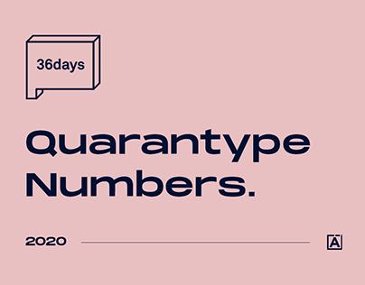 36 Days of Type 2020 Quarantype Numbers.