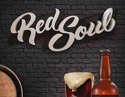 Rótulo de Cerveja - Red Soul