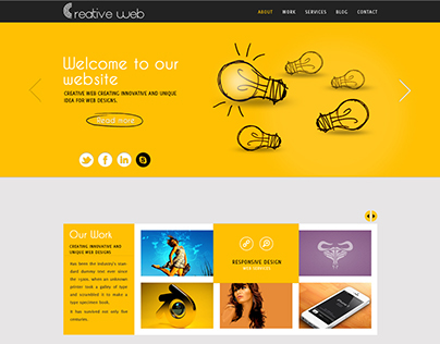 Single page custom layout material design