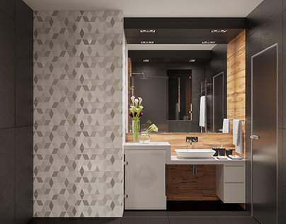 Contemporary Small Bathroom - Киев, ЖК Женева