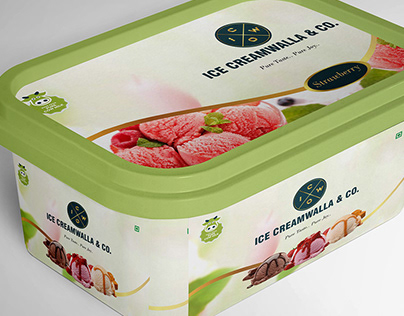 New Packaging for Ice Cream Brand