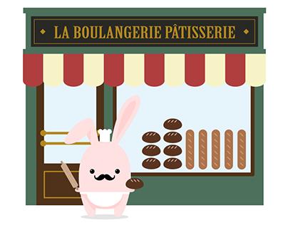Gaston Millefeuille, un lapin à Paris.
