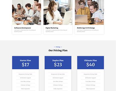 IT Tech Startup Website PSD Template