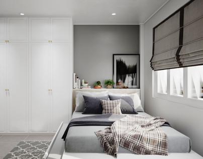 Bedroom style scandinavian