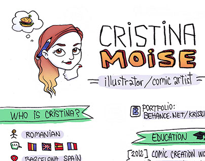 Cristina Moise / Illustrator and Comic Artist CV